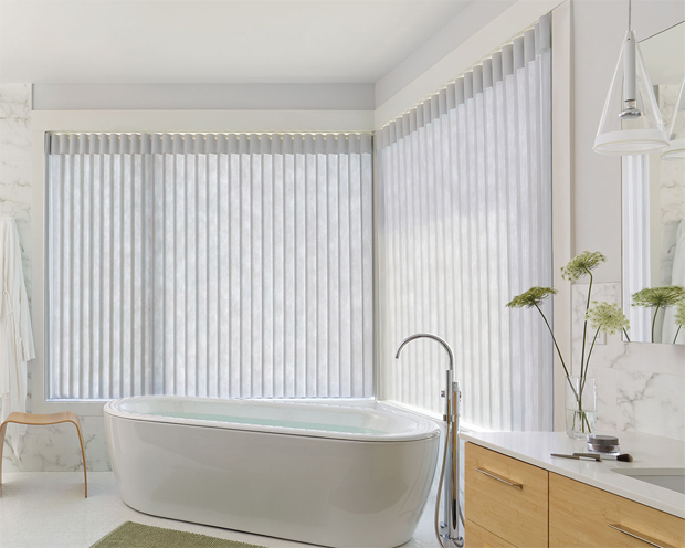 Hunter Douglas Celebrity Blinds in the magnificent style of Aluminum Privacy Sheers allow plenty of natural light preserving the comfort of your own secret retreat