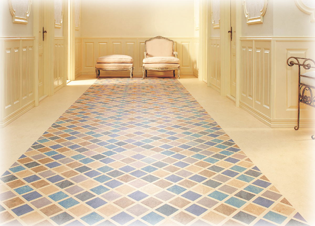 classic linoleum a renewable product that is hypoallergenic and durable with colorful inspiration from many of the worlds most famous artists