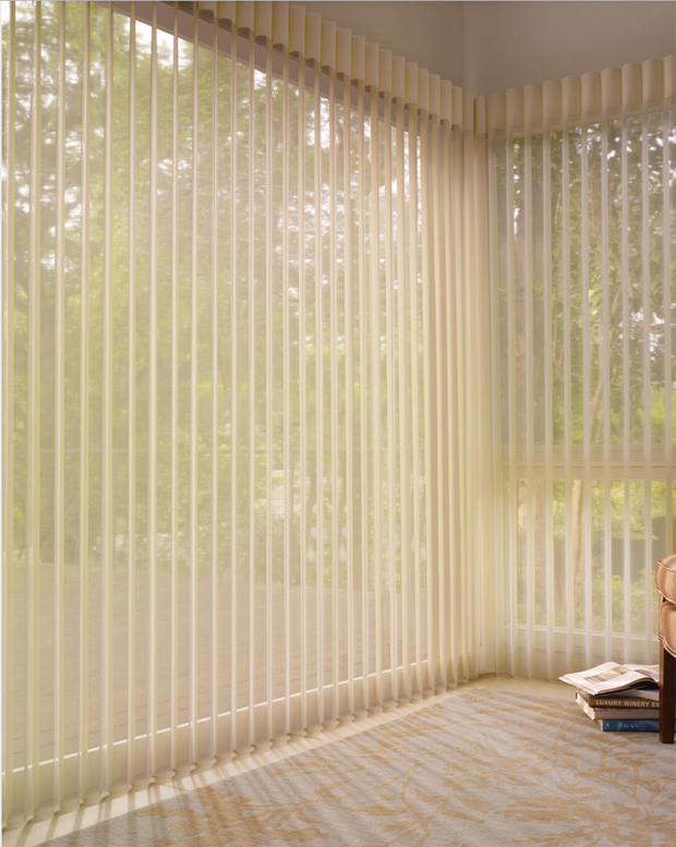 Hunter Douglas Luminette Privacy Sheers in the subtle style of Angelica Refined