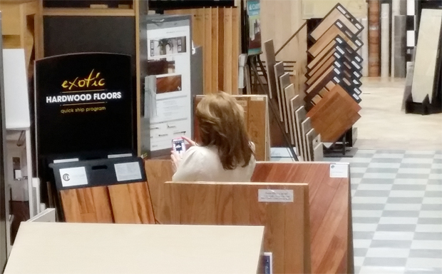 Every shopper is given exceptional customer service at Foster Flooring