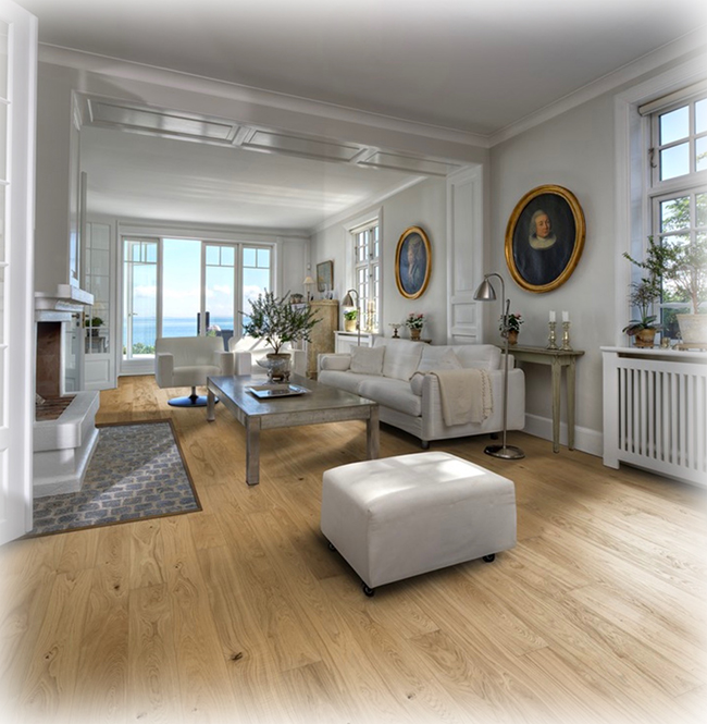 A high-end flooring choice among celebrated designers, real wood flooring offers a wide range of benefits and is also considered renewable when installed without the use of toxic glue.